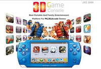 Wholesale 100 New JXD3000 quot Handheld D Game Player Memory GB amp GB Game FM Digital Cameras MP4 MP5 D Ga