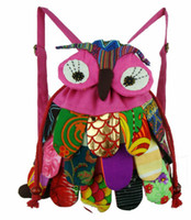 Wholesale 2013 New children bag backpack owl fashion baby kids school bags China s national characteristics