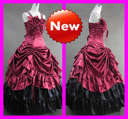 Wholesale Elegant Bow Spaghetti Straps Mixed Colorful Elegant Gothic Lolita Dresses Custom Made Drop Shipping