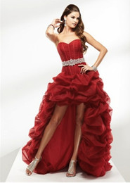 Wholesale Big surprise Latest dressave Hi lo Red White A line Wedding dresses buy get