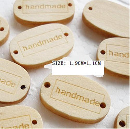 Wholesale HANDMADE Label Wooden Buttons Kawaii DIY Sewing Buttons For handcraft