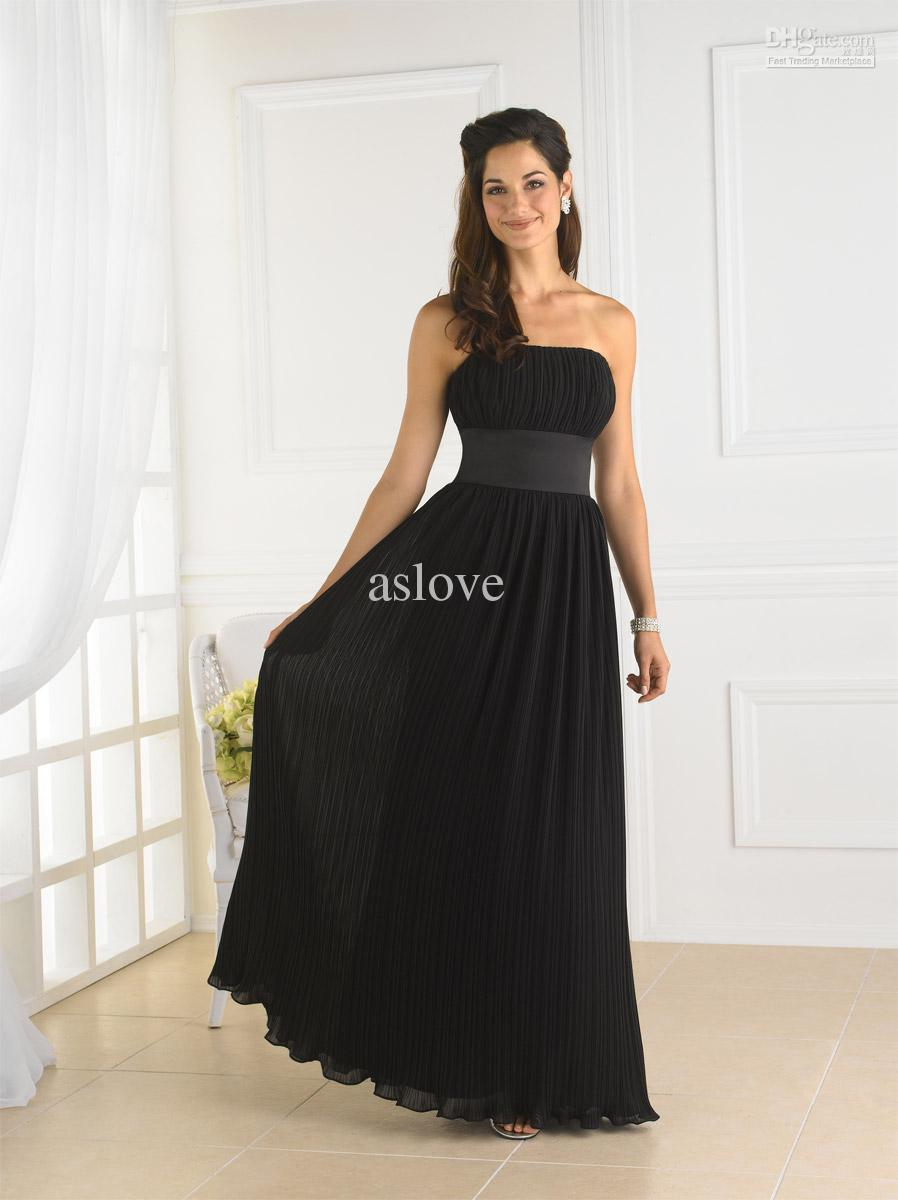 Chiffon Dress Black