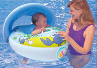 Baby   Safe Swimming Ring for Baby Bath Neck Float Peng crab boat EMS free shipping