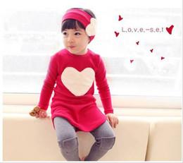 Autumn Children Clothes Set Girl Clothing Korean Love Long Sleeve TShirt+leggings Pants 2pcs sets