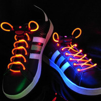 Wholesale LED Light Up Shoes Shoelaces Luminous Shoestring Flash Strap Stick Disco Shoelace shoe lace
