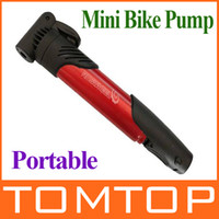 Wholesale Mini Portable Bike Bicycle Tire Inflator Air Pump Skidproof T shape handle Red H8719R