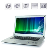 Wholesale 14inch Laptop Dual Core Win G GB G HDD GB G G ROM Laptop Intel Atom D2500 HDD DDR3 thin Airbook inch Netbook Laptops