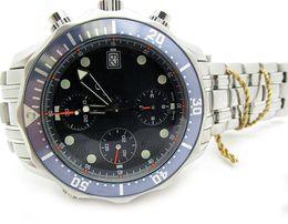 Luxury Men James Bond 007 Steel Automatic Blue Sapphire Sport Planet Ocean Watch Men's Watches