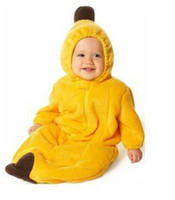 70.95 Cold Weather banana Cute Vivid Children Pajamas Sleeping bags Bananas Yellow 100%cotton Warm Comfortable 6pcs lot