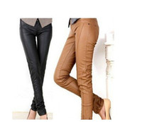 Women Skinny,Slim Other Brand New arrival women leather PU elastic slim leggings feet pencil pants with high quality lady sk