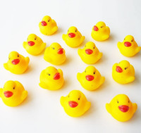 Bath Toys Animals 12-24M Hot! 20pcs lot Baby Bath Toy Mini 4cm Rubber Ducks toys Sounds Duck With