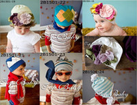 Wholesale Top Baby baby hats girl boy hat headband fashion caps flower beanie caps baby Accessories QY316