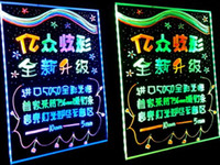 Wholesale 10 discount of CM led fluorescent plate tablet advertising boards with highlighter amp Bracket