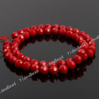 Wholesale 135 Carved Red Coral Beads Charms Gemstone Loose Beads in Stock Fit Bracelets DIY