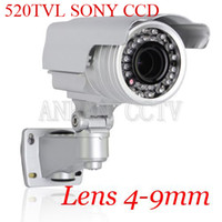 Wholesale 520TVL Sony CCD High Resolution IR Vari focus Lens mm Security Outdoor CCTV Camera