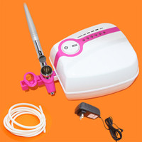 Wholesale Portable Makeup Mini tattoo Compressor Airbrush Airhouse Foothold Plug kit PH APQ106 PH EPQ106