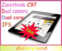 Wholesale 9 quot Zenithink C97 Cortex A9 Dual Core IPS Capacitive Point Touch Android Tablet headphone