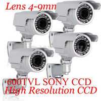 Wholesale 4PCS High Resolution Sony CCD TVL IR Vari focus Lens mm Waterproof CCTV Camera