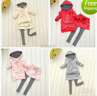 Wholesale Hot Baby Autumn Girls Suits Baby Suits Girls Wear Lovely Girls Clothes Girl Suit set dandys