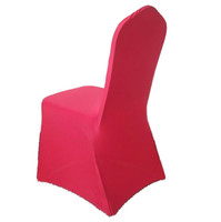 Wholesale red spandex wedding chair covers pieces