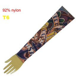 Wholesale Pop Fancy Tattoo Stripe Sleeves Arm Dress Sleeve Great Tattoo Design For Men amp Women T6 ML002