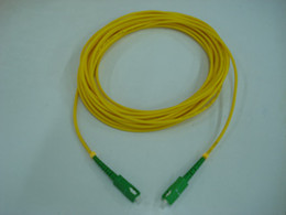 Wholesale Fiber Optic Patch cord SC SC APC Singlemode simplex jumper SM PVC mm M patch cable