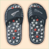 Wholesale High Recommend Sandals Shoes Reflex Massage Slippers Acupuncture Foot Healthy Shoe Black