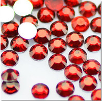 Wholesale ss16 ss20 ss30 ss34 ss40 Crystal AB Nail Art Rhinestone flatback silver back red