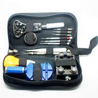 Tools battery screwdriver - Watch Tool Watch Repair Tool Kit Zip Case Battery Opener Link Remover Screwdrivers