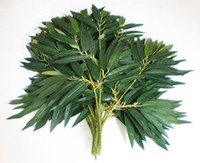 Wholesale stem Artificial Silk Bamboo leaf artificial plants Artificial tree branches leaves