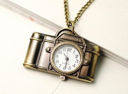 Wholesale Best match Retro camera necklace table pocket watch pendant necklace table alloy necklace
