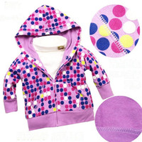 Wholesale Window color Ploka Dot Hoodies Sweatshirts full zip sweatshirts hooded sweatshirts