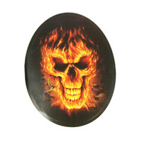 Body   10X FlaMes Skull Motorcycle Car Auto Racing Decal Sticker