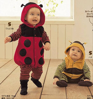 baby beetle clothes - Autumn Winter Infant Lovely Animal Clothing With Cap baby romper Lady beetles style baby clothes