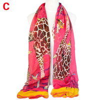 giraffe print - women Giraffe printing summer scarf hot and fashion colors NL