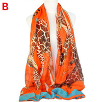 Wholesale Viscose animal print scarves women Giraffe printing summer scarf hot and fashion shawls pashmina colors NL