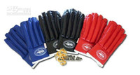 Wholesale pairs Wing Chun MMA Fingerless Punching Gloves Black Blue