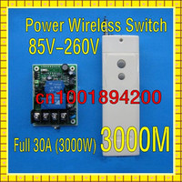 Wholesale AC85V V Wide Voltage input Full W RF Wireless Remote Control Switch Receiver Transmitter Big