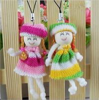 Téléphones pour bébés France-La laine accessoires de poupées, bébés colorés de la poupée pendentifs, porte-clés, téléphone mobile pendentifs
