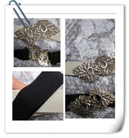 Wholesale Double belt buckle fashionable stretch of pure Engraving leaves Elastic tightness belts P