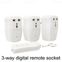 Wholesale 3 way digital remote socket remote control socket surge protector slave socket smart master