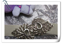 Wholesale Double belt buckle fashionable Engraving leaves Elastic tightness belts fast delivery P