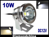 Wholesale 10W Waterproof Outdoor High Strength Aluminum LED Flood Light LM Lamp DC V Underwater Light