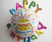 Wholesale Happy birthday design Foil Balloons For Birthday party cartoon design balloons