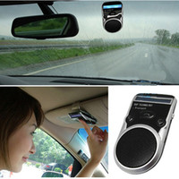 Wholesale Sun Power Solar Panel In Car Bluetooth Wireless Speaker MINI Cell Phone Audio Voice hand free
