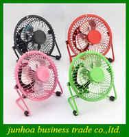 Wholesale Popular Metal USB Fan with degree rotating PC Mini fans Mute cool for office desk