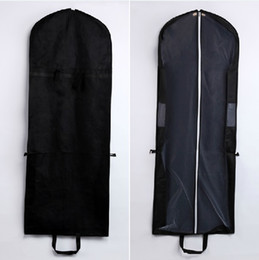 Factory Sale Black Dust Cover Bags Non woven Fabric and Tulle for Dresses and Gowns 10pcs lot