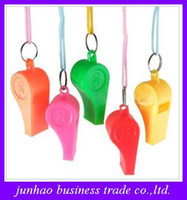 Wholesale Colored plastic sport fans whistling hiking outdoors referee cheer supplies whistle good quality