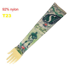 Wholesale Top Fancy Tattoo Stripe Sleeves Arm Dress Sleeve Great Tattoo Design For Men amp Women T23 ML