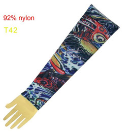 Wholesale Top Fancy Tattoo Stripe Sleeves Arm Dress Sleeve Great Tattoo Design For Men amp Women T42 ML